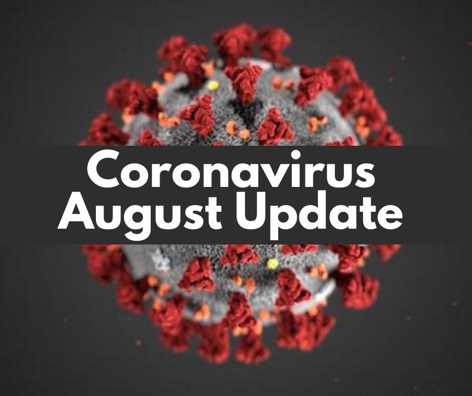 Coronavirus August update