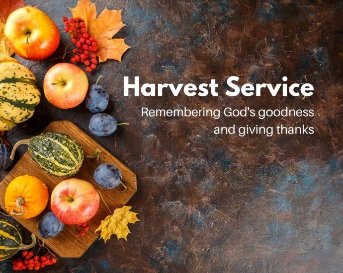 Harvest service and tea invitation